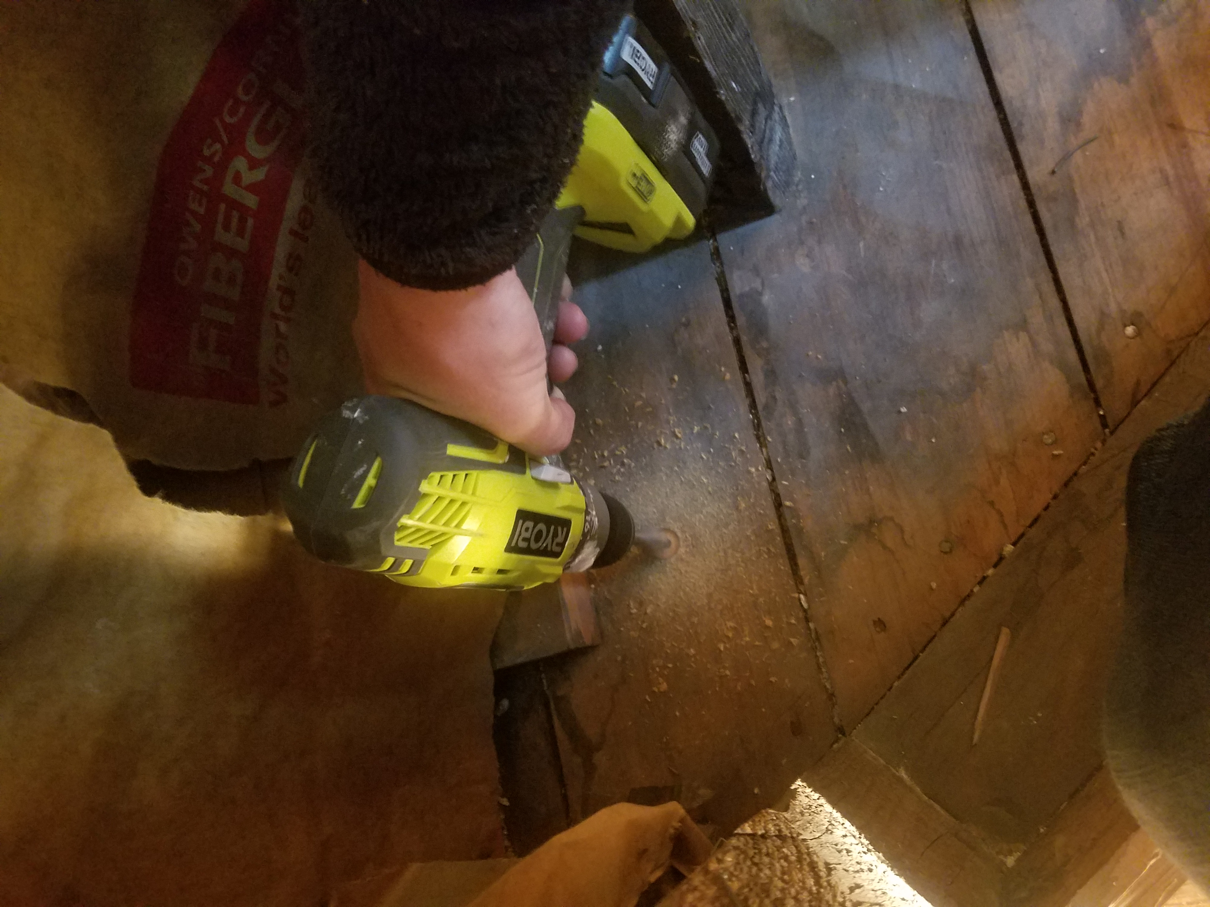 drill hole in floor