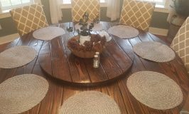 Farmhouse Table with Lazy Susan