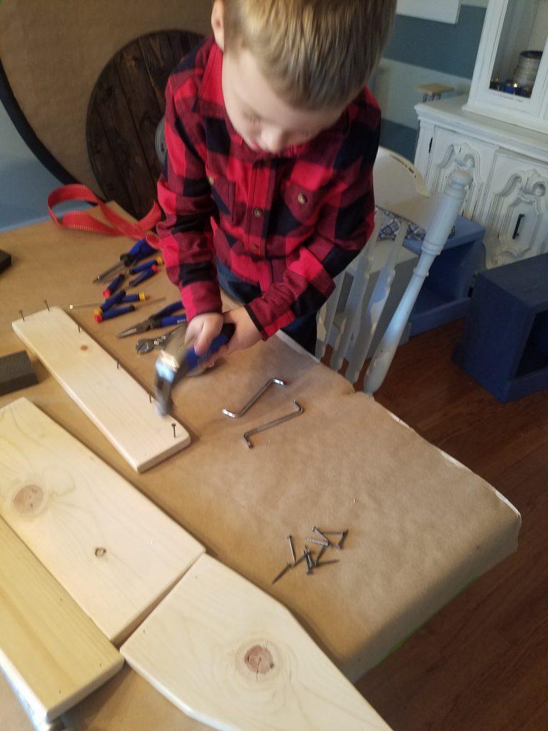 kids wood toolbox project